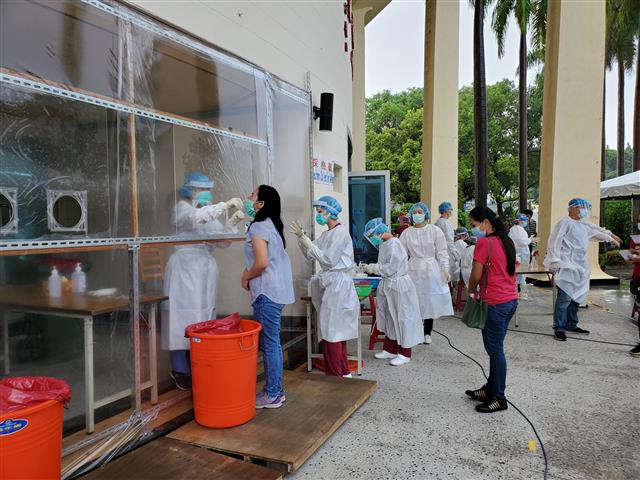 In 2021, facing the severe epidemic of covid-19, Taiwan has set up a quarantine station in the Miaosu Industrial Zone, and medical staff will help mig