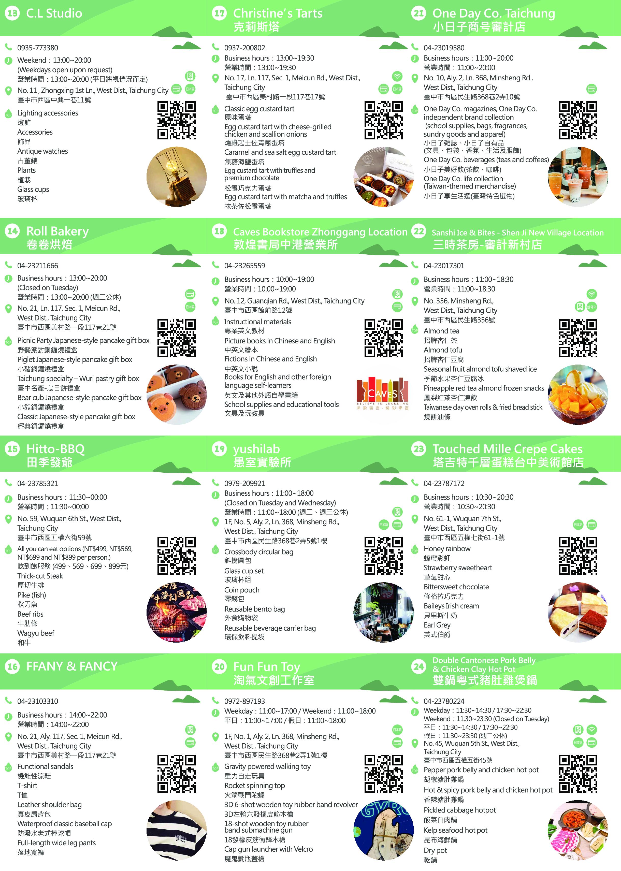 2020臺中草悟綠園道英語友善店家地圖3