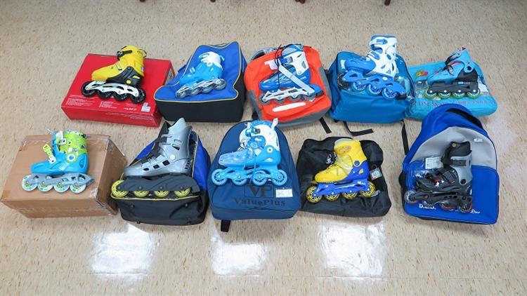 標檢局抽驗10件不同廠牌直排輪鞋